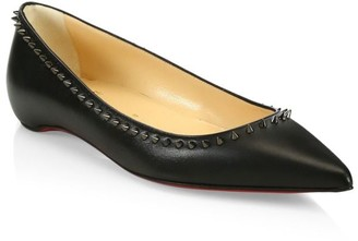 Christian Louboutin Anjalina Studded Leather Flats