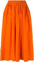 Aspesi elastic waistband skirt - women - Linen/Flax - 42
