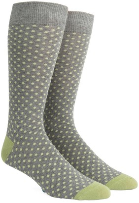 Tie Bar Pindot Warm Grey Dress Socks
