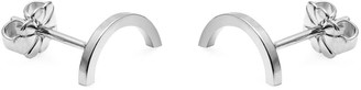 Myia Bonner Silver Mini Arc Stud Earrings