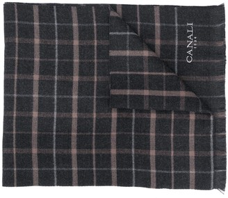 Canali Large Check Scarf