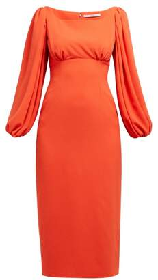 Emilia Wickstead Magita Empire-waist Dress - Womens - Orange
