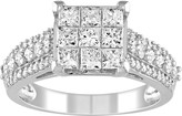 Stella Grace Lovemark 10k White Gold 1 1/2 Carat T.W. Diamond Invisible Set Ring