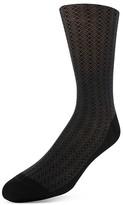 Bruno Magli Crisscross Diamond Dress Socks