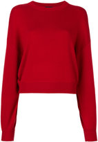 Theory round neck ribbed sweater - women - Silk/Nylon/Cashmere - S