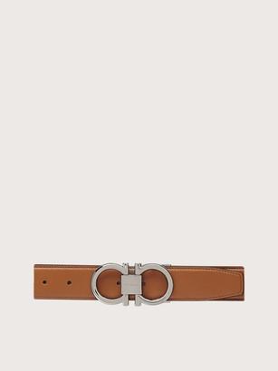 Salvatore Ferragamo Men Adjustable and reversible Gancini belt Multicolor