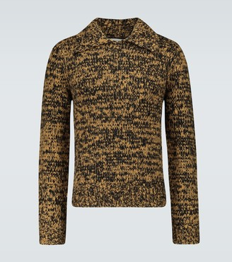Dries Van Noten Melange chunky knitted sweater