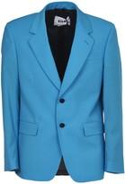 MSGM Light Blue Single-breasted Jacket
