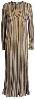 Missoni V-Neck Striped Maxi Dress