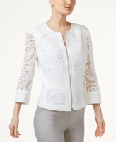 INC International Concepts Petite Crochet Jacket, Created for Macy's