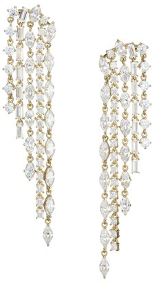 Adriana Orsini Gia 18K Goldplated Silver Crystal Waterfall Drop Earrings