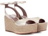 Tabitha Simmons Tessa metallic leather platform sandals