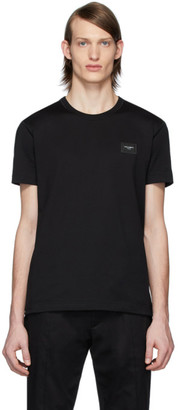 Dolce & Gabbana Black Essential Logo Patch T-Shirt