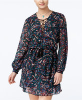 Jessica Simpson Kaylin Printed A-Line Peasant Dress