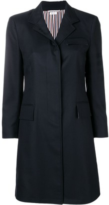 Thom Browne Sateen 4-Bar Chesterfield Overcoat