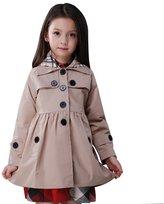 FREE FISHER Little Girls Wind Coat with Detachable Hood