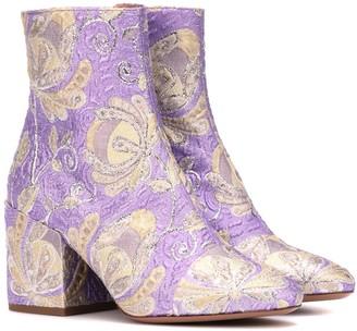 Dries Van Noten Brocade ankle boots