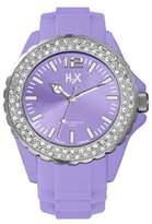 Haurex H2X Women's SS382DL1 Reef Stones Luminous Water Resistant Purple Soft Rubber Watch