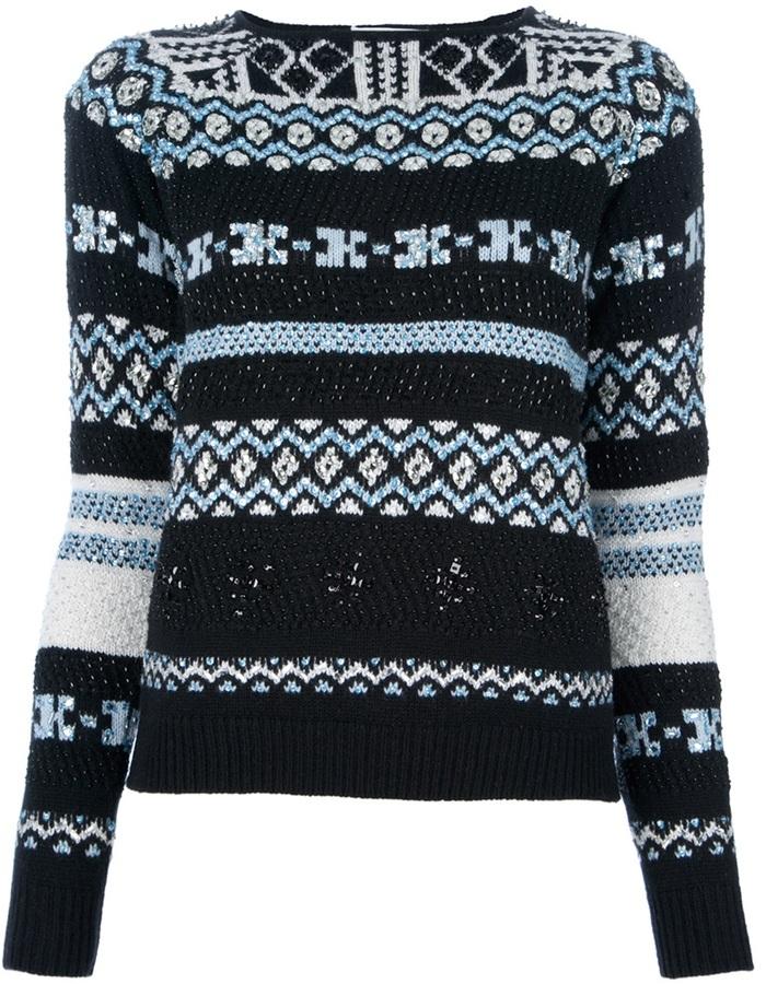 Emilio Pucci embroidered sweater