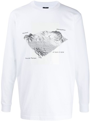 Marcelo Burlon County of Milan geographic-print long sleeved T-shirt