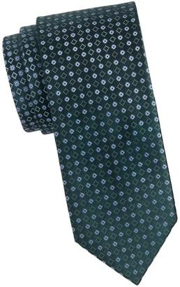 Brioni Silk Geometric Tie