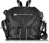Alexander Wang Mini Marti Black Washed Leather Backpack w/Silvertone Metal