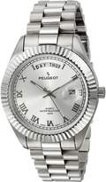 Peugeot Men's ' Quartz Metal and Stainless Steel Dress Watch, Color:Silver-Toned (Model: 1029S)
