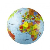 Smallable inflatable globe with countries 50cm