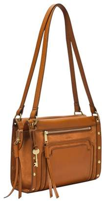 Fossil Allie Satchel Handbags Caramel
