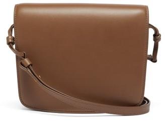 The Row Julien Large Leather Shoulder Bag - Nude