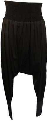 Thomas Wylde Beige Silk Trousers for Women