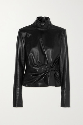 16Arlington Yukie Knotted Leather Top - Black