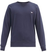 Maison Kitsuné Maison Kitsune - Fox Applique Cotton Sweatshirt - Mens - Navy