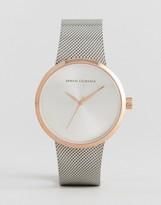 Armani Exchange Ax4509 Mesh Watch In Mixed Metal