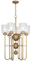 Rob-ert Williamsburg 6 - Light Shaded Classic / Traditional Chandelier Robert Abbey Finish: Antique Brass