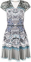 Mary Katrantzou Card Print Sublimated Dress - women - Spandex/Elastane/Viscose - XS