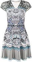 Mary Katrantzou Card Print Sublimated Dress