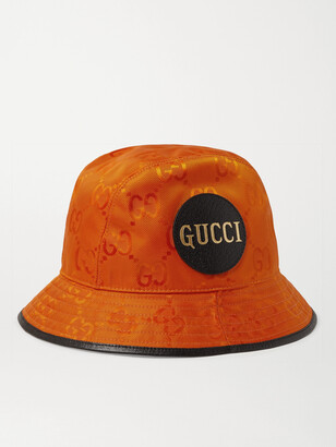 Gucci Logo-Appliqued Leather-Trimmed Econyl Baseball Cap