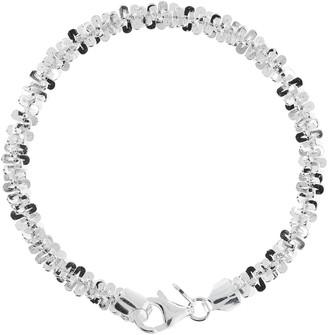 UltraFine Silver Crisscross Bracelet, 11.2g