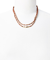 Carole Brown & Goldtone Bead Layered Necklace