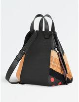 Loewe Hammock circles leather shoulder bag