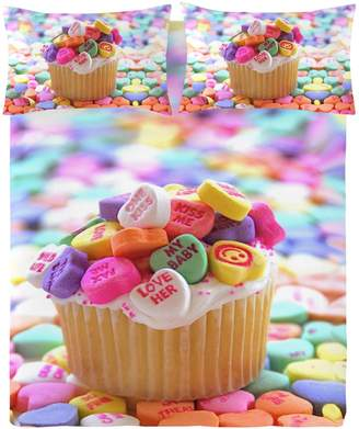 Gouchee Design Cupcake Print Duvet Cover Set