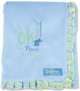 "Trend Lab Dr. Seuss ""Oh The Places You'll Go!"" Velour Receiving Blanket by Blue"