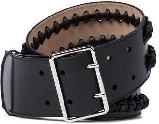 Alexander McQueen Studded black leather belt