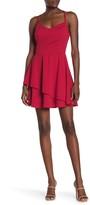Rowa Row A Lace Back Mini Dress
