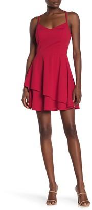 Rowa Lace Back Mini Dress