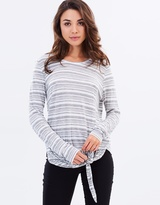 DECJUBA Alena Long Sleeve Tie Front Top