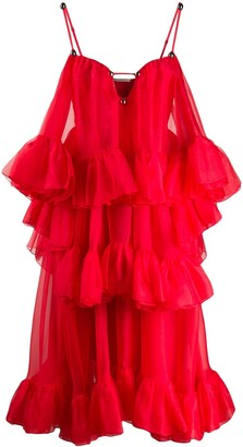 Christopher Kane Organza Frill Dress