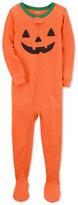 Carter's 1-Pc. Pumpkin Face Footed Pajamas, Toddler Boys (2T-5T)