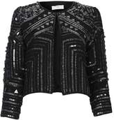 Wallis Petite Black Beaded Jacket